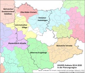 LEADER-Gebiete 2014-2020